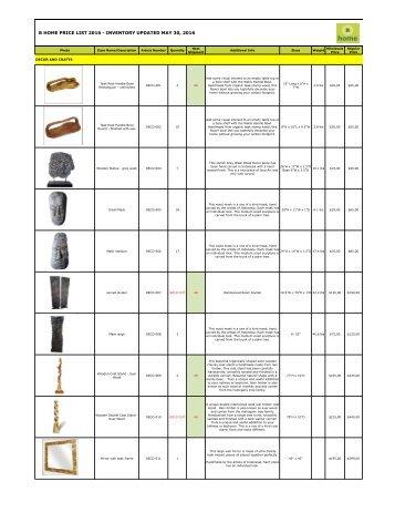 Bhome catalog wholesale decor