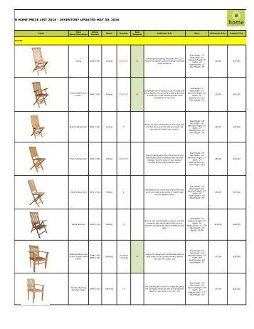 Bhome catalog teak wholesale