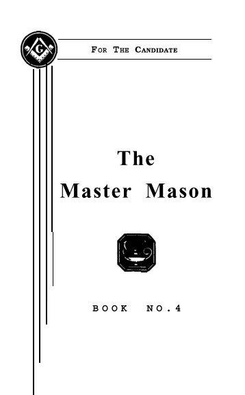 A Master Mason Book