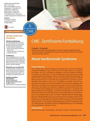 Akute kardiorenale Syndrome