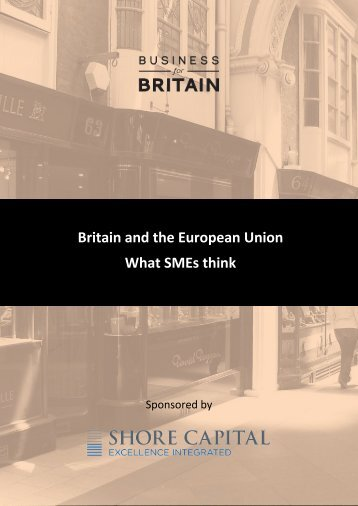 Britain and the European Union What SMEs think