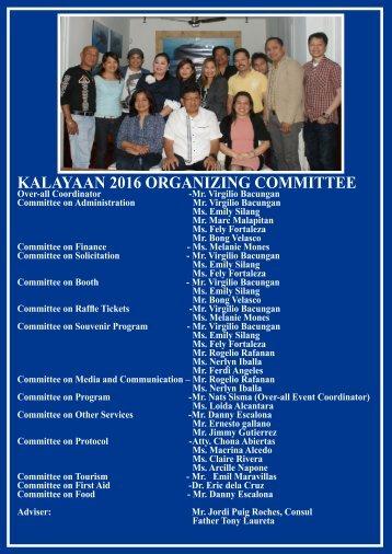 AKCFC ORGANIZING COMMITTEE