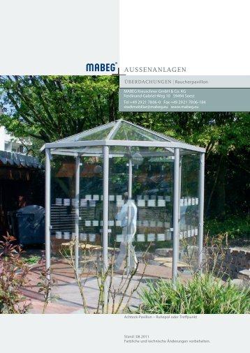 Produktkatalog Raucherpavillon und Zubehör - Mabeg.com