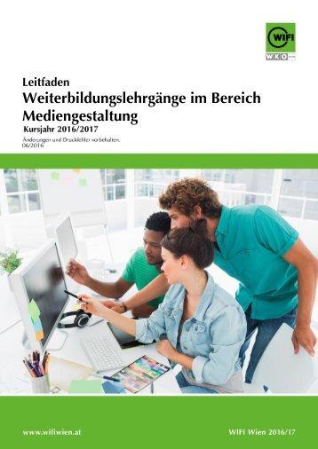 Leitfaden: Weiterbildungslehrgänge im Bereich Mediengestaltung