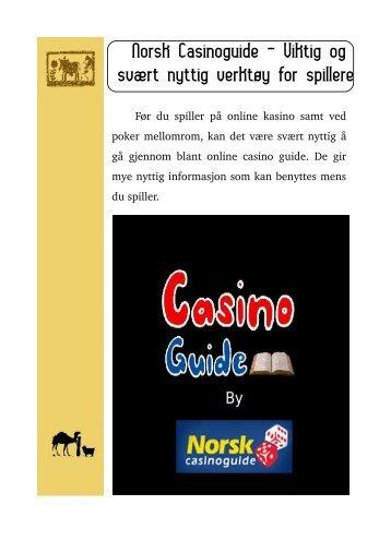 Norsk Casinoguide - Viktig og svært nyttig verktøy for spillere