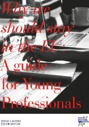 Why we should stay in the EU A guide for Young Professionals