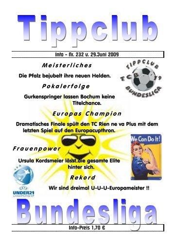 Info - Nr. 232 v. 29.Juni 2009 - TC Bundesliga