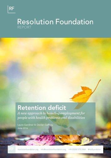 Retention deficit