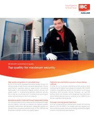 IBC SOLAR's commitment to quality: Top quality for maximum security