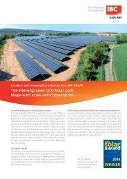 The Hölzengraben City-Solar park: Mega-watt scale self-consumption