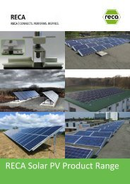 RECA Solar PV Product Range