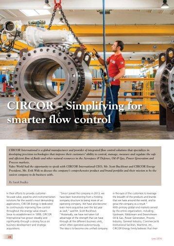 CIRCOR – Simplifying for smarter flow control