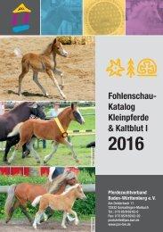 Fohlenschaukatalog Kleinpferde & Kaltblut 1/2016