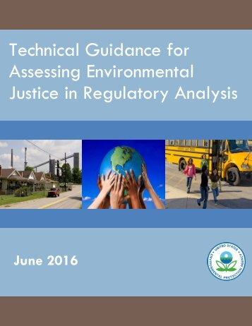 Technical Guidance for Assessing Environmental Justice in Regulatory Analysis