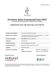 procimmo swiss commercial fund - FidFund