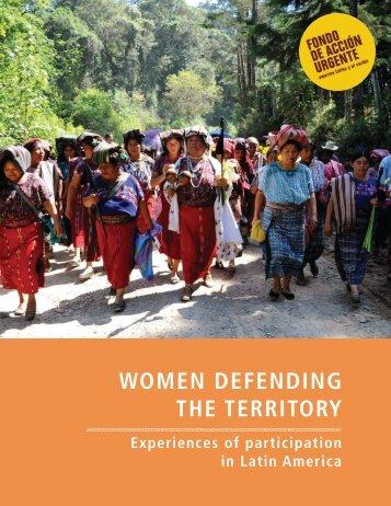 WOMEN DEFENDING THE TERRITORY