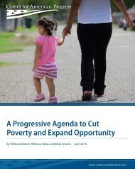 A Progressive Agenda to Cut Poverty and Expand Opportunity
