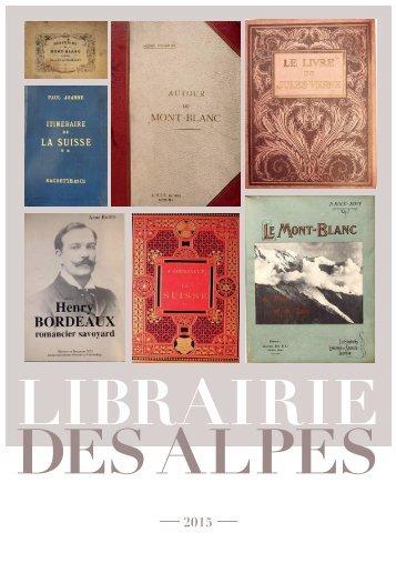 Librairie des Alpes catalogue livres