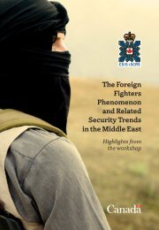 The Foreign Fighters Phenomenon and Related Security Trends in the Middle East