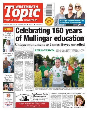 Westmeath Topic - 9 June 2016