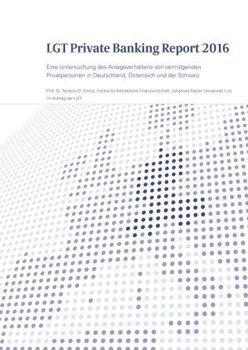 LGT Private Banking Report 2016