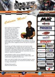 Mats van den Brand - ELE Rally 2016 - Nieuwsbrief