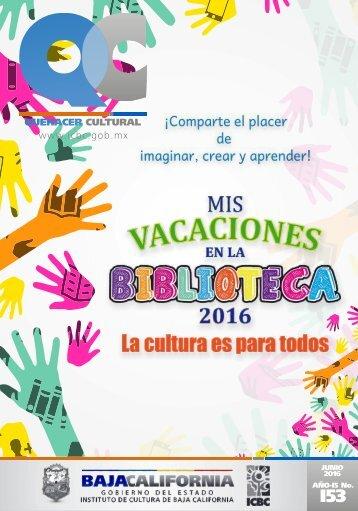 Quehacer Cultural del mes de Junio 2016