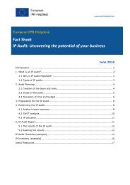 Fact Sheet IP Audit Uncovering the potential of your business