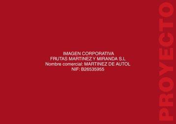 IMAGEN CORPORTIVA FRUTAS MARTINEZ Y MIRANDA