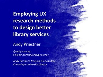 Employing UX research methods to design better library services