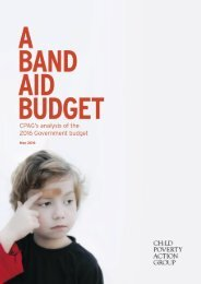 0 CPAG's ANALYSIS of the 2016 BUDGET