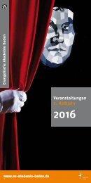 Evangelische Akademie Baden - Programm 2016/II