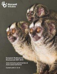Aotus studbook 2007 - Marwell Zoo