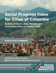 Social Progress Index for Cities of Colombia