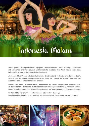 Indonesia Malam Broschuere Europa-Park
