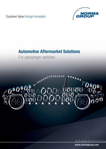 Automotive Aftermarket Solutions For passenger vehicles