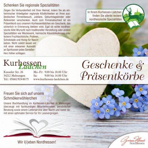 Geschenke & Präsentkörbe aus Nordhessen
