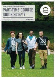 Shipley College Part-time Prospectus 2016-17