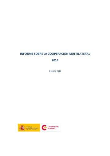 INFORME SOBRE LA COOPERACIÓN MULTILATERAL 2014
