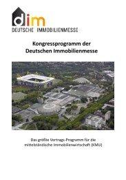 Kongressprogramm der Deutschen Immobilienmesse