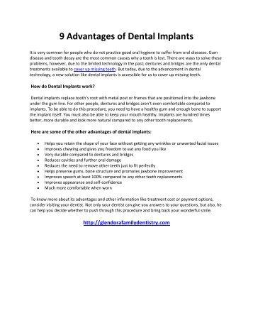 9 Advantages of Dental Implants