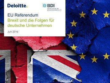 Brexit und die Folgen für deutsche Unternehmen