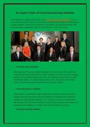 An expert Team of Financial planning Adelaide