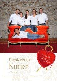 Hotel Klosterbräu - Sommerangebote 2016
