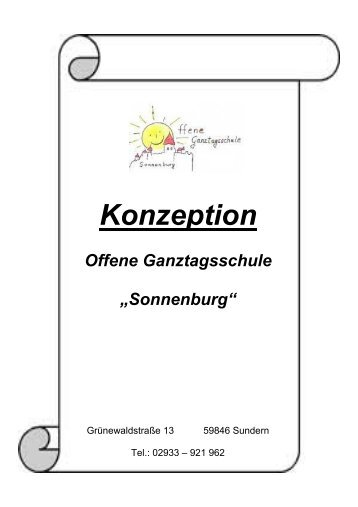 Konzeption Offene Ganztagsschule - Johannesschule Sundern