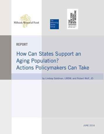 How Can States Support an Aging Population? Actions Policymakers Can Take