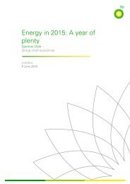 Energy in 2015 A year of plenty