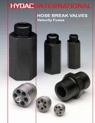 HOSE BREAK VALVES - Airline Hydraulics