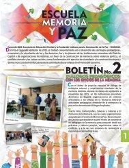Escuela Memoria y Paz - Boletín 2