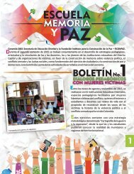 Escuela Memoria y Paz  - Boletín 1